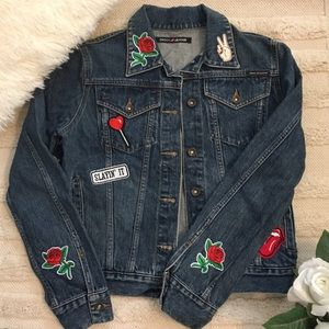 Vintage DKNY Denim Jacket with Patches
